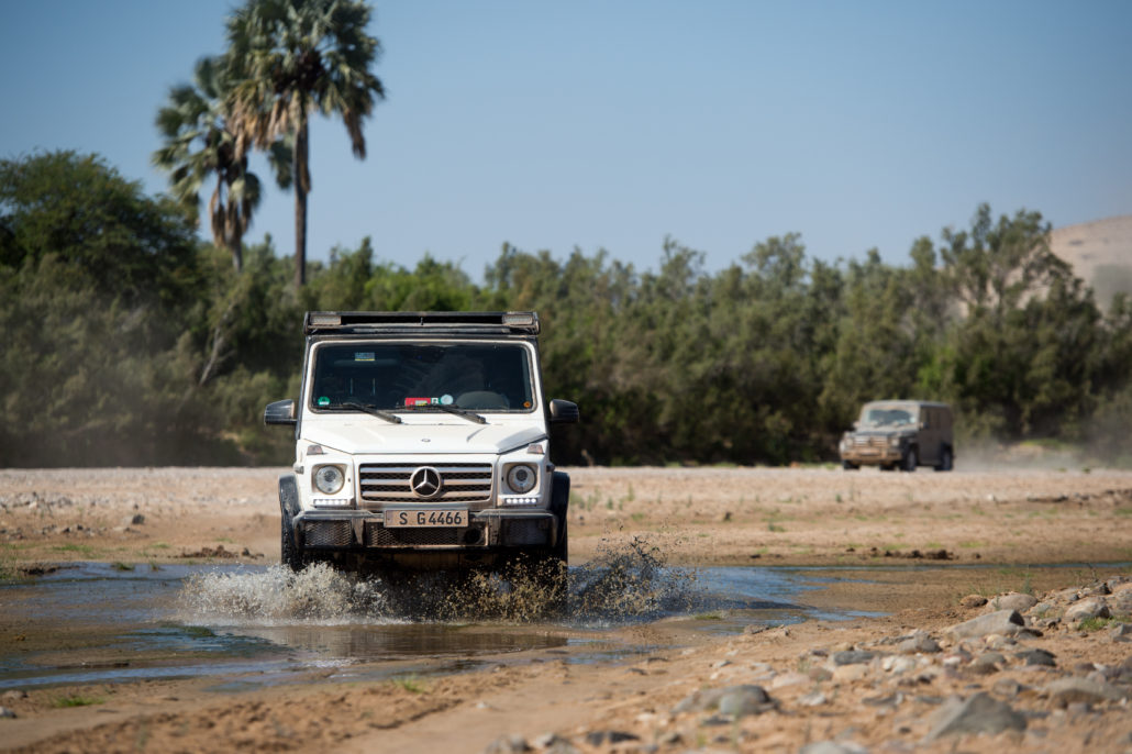 Trip to the North of Namibia on six Mercedes Benz cars.G350,G500
